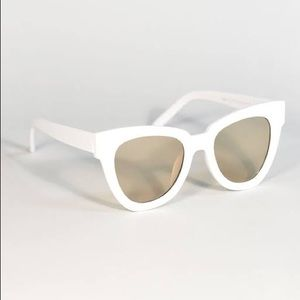 White clear sunglasses
